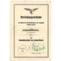 Italy Flak award document grouping