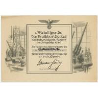 Metallspende document SA member