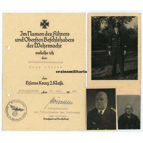 EK2 Award documents and photos - Scharnhorst