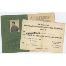 SA Leistungsbuch and Czech annexation document