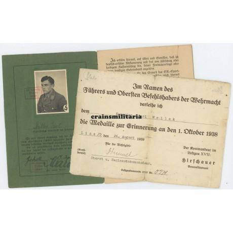 SA Leistungsbuch and Czech annexation document