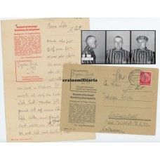Concentration camp letter KZ Neuengamme victim