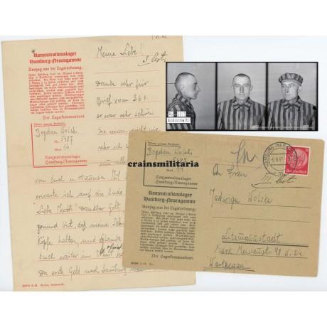 Concentration camp letter KZ Neuengamme victim