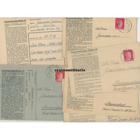 Concentration camp letters KZ Dachau