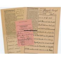 Concentration camp letters KZ Dachau - Auschwitz victim
