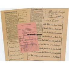 Concentration camp letters KZ Dachau - Auschwitz victim