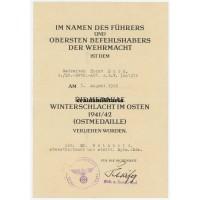 Ostmedaille document