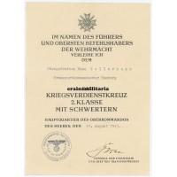 KVK2 Document Transportkommandantur Hamburg