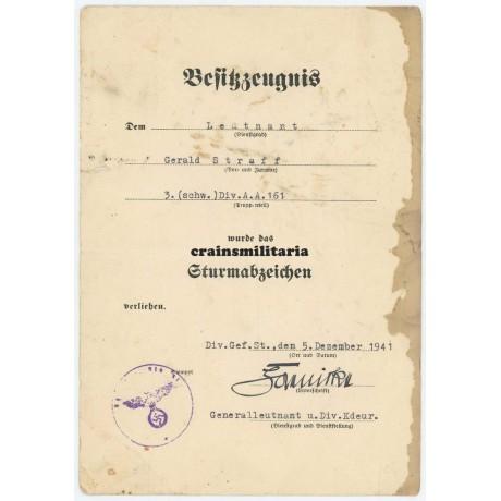 61.ID Sturmabzeichen document