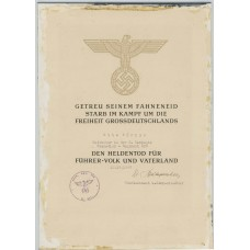 79.ID Heldentod document, Stalingrad