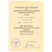 Ostmedaille document 296.ID