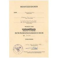 Kraftfahr-Bewährungsabzeichen in Bronze citation