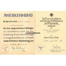 7.ID Panzerjäger certificate grouping
