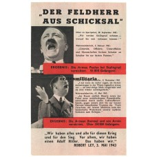 Allied propaganda leaflet - Der Feldherr aus Schicksal