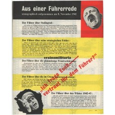 Allied propaganda leaflet - Aus einer Führerrede