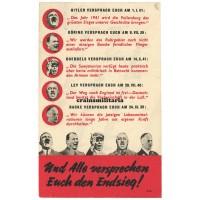 Allied propaganda leaflet - Und Alle versprechen Euch den Endsieg!