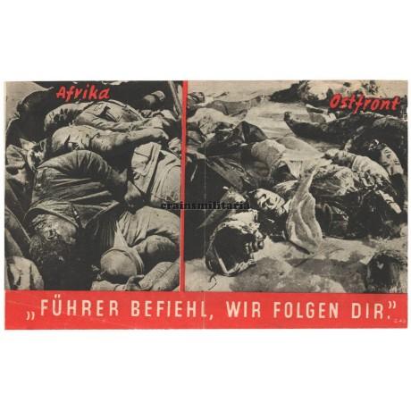 Allied propaganda leaflet - Führer befiehl, wir folgen dir
