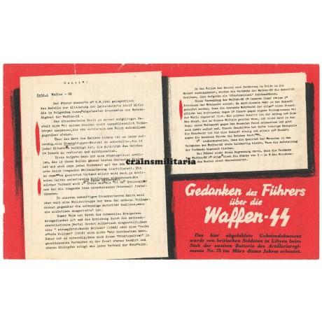 Allied propaganda leaflet - Gedanken des Führers über die Waffen-SS