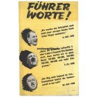 Allied propaganda leaflet - Führerworte