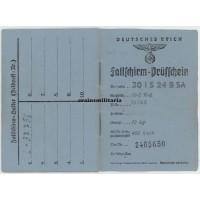 Fallschirm-Prüfschein for KG26 parachute