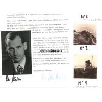 Otto von Bülow - signed portrait and letters