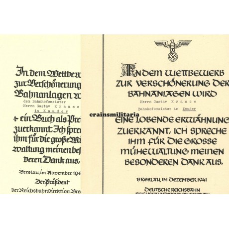 Reichsbahn Breslau citations