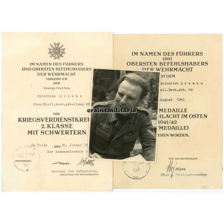 Award documents Beobachtungs-Abteilung