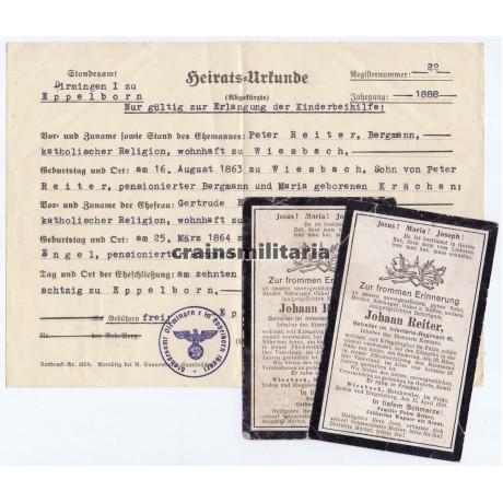 Arras 1918 KIA Death cards