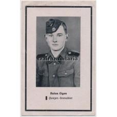 ***SOLD***  SS Death card KIA Romania 1944