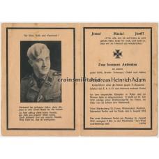 ***SOLD*** SS Rottenführer death card