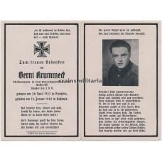 ***SOLD*** SS Panzerjäger death card
