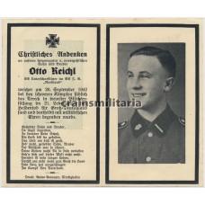 SS Nordland death card