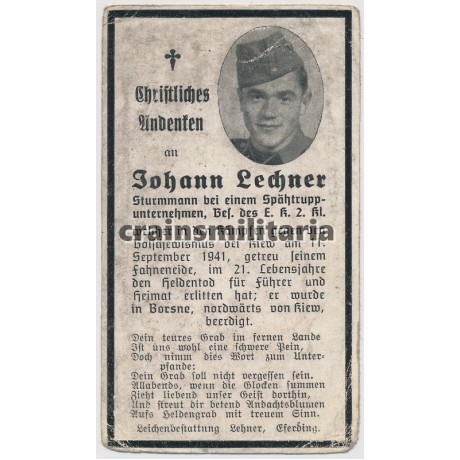 SS Spähtrupp death card