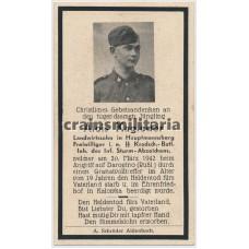SS Kradschütze death card