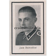 SS Panzergrenadier Uschaf. death card