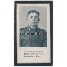 SS Grenadier death card