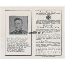 SS death card Greece 1943