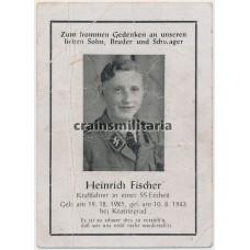 SS Kraftfahrer death card