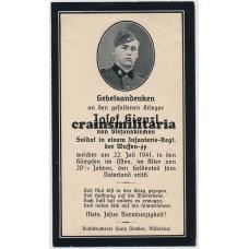 SS Der Führer death card