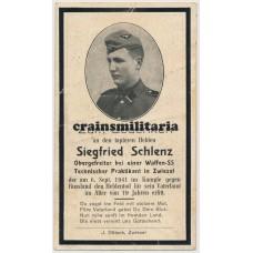 SS Sturmmann death card