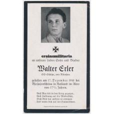 SS Schütze death card