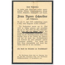 Political death card NSDAP woman