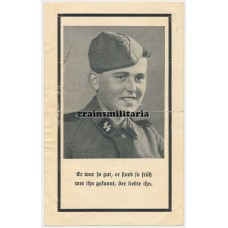 SS Death card Normandy Saint-Lo