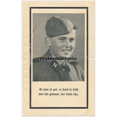 SS Death card Normandy Saint-Lo