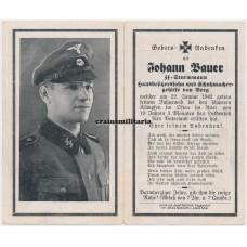 SS Death card with Schirmmütze