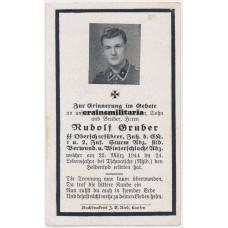 SS Totenkopf Death card