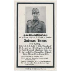 """SS Gebirgsjäger """"Nord"""" death card, Finland, EK1"""