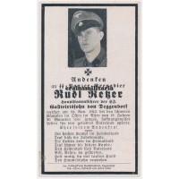 SS Panzergrenadier death card