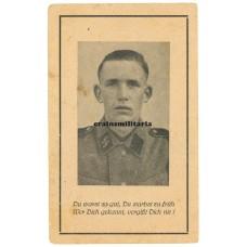 SS Death card - France 1943