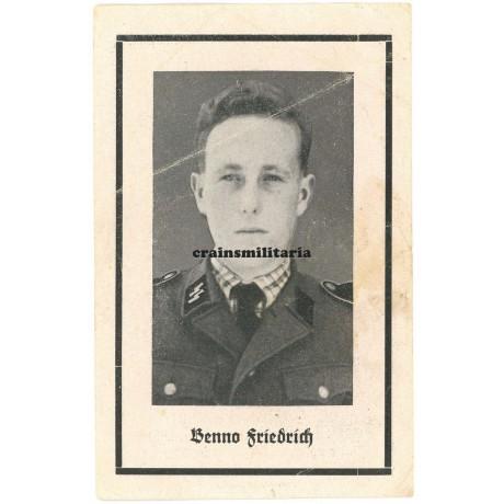 SS Death card - France 1944